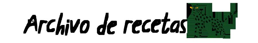 Archivo de recetas