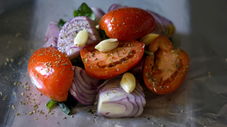 salsa de tomates a la parrilla
